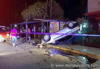 Aparatoso accidente en Santiago Tuxtla - Diario Eyipantla