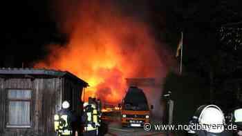 Meterhohe Flammen: Sauna brannte nahe Burgthann - Nordbayern.de