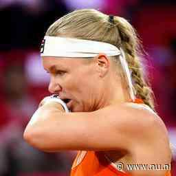 Nederland loopt Fed Cup Finals mis na thriller tegen Wit-Rusland