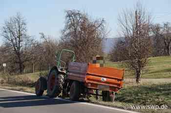 Unfall Zell unter Aichelberg: Traktor überholt und in den Gegenverkehr gekracht - SWP