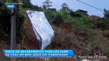 Encosta pode desabar em Bom Jesus do Itabapoana - R7