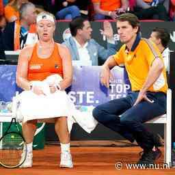 Fed Cup-captain Haarhuis: 'Deze nederlaag dreunt nog wel even na'