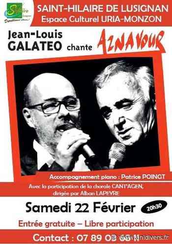 Galateo chante Aznavour Saint-Hilaire-de-Lusignan, 22 février 2020 - Unidivers