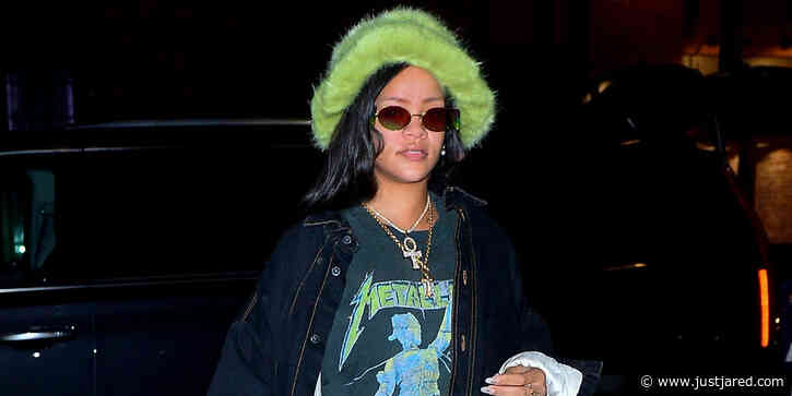Rihanna Heads to the Studio in a Faux Fur Hat in NYC