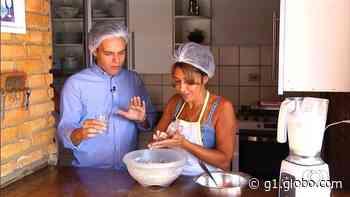 Produtora rural ensina como fazer pão de mandioca, em Ipameri - G1