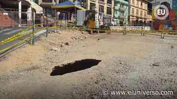 Socavón de 5 metros alertó a población y autoridades de Zaruma nuevamente   Videos - El Universo