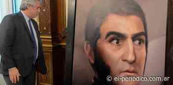 Alberto Fernández recibió un retrato digital del General San Martín en la Rosada - El Periódico