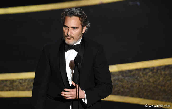 "Joaquin Phoenix calls for ""the best of humanity"" in wide-ranging Oscars speech"