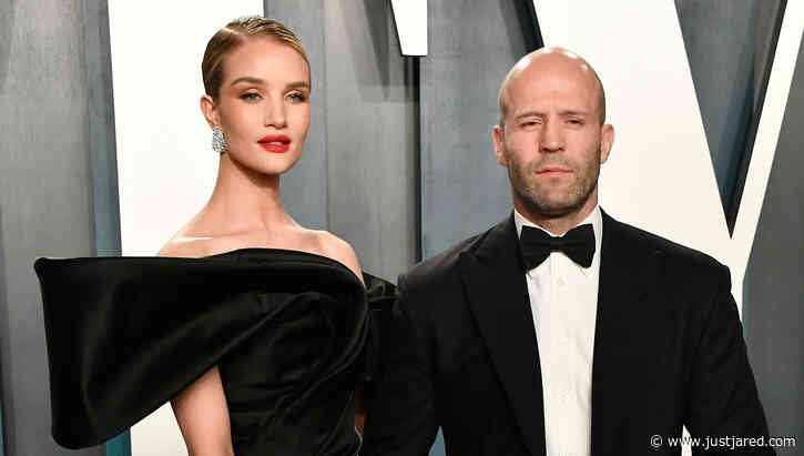 Rosie Huntington-Whiteley & Jason Statham Stay Classy in Black at Oscars Party 2020