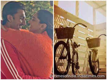 Photo: Ranveer-Deepika enjoy cycle ride
