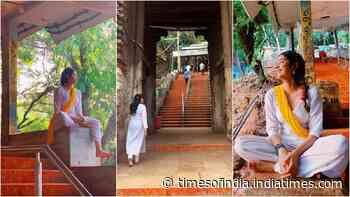 Janhvi Kapoor gives sneak peek into her Tirumala trip, impresses fans as she treks to the temple