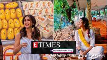Sara Ali Khan is a true foodie and her latest post on Delhi's 'chhole bhature' is proof; Janhvi Kapoor shares glimpses from her Tirumala trip, and more...
