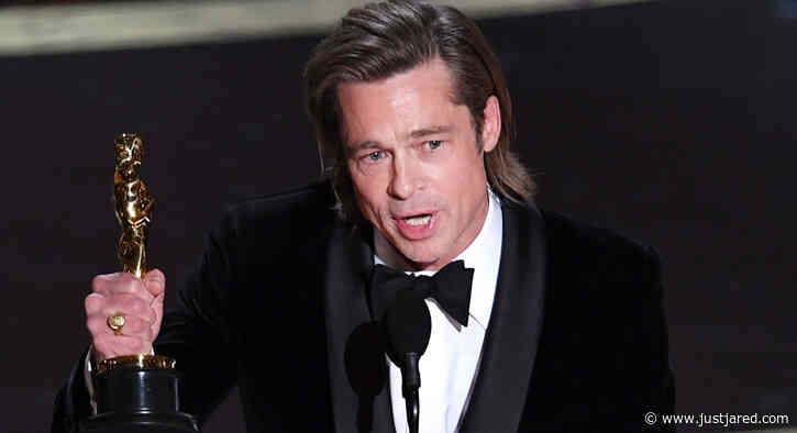 Brad Pitt Reveals Who Helped Him Write His Awards Season Speeches & It's One of His Former Directors