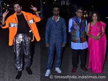Photos: Ayushmann opts for a funky neon look