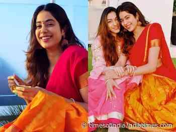 Janhvi looks beautiful in her ethnic avatar