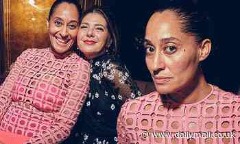 Tracee Ellis Ross and Marisa Tomei at UTA pre-Oscars party - Daily Mail