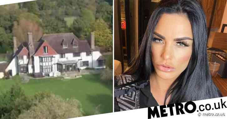 Katie Price moves back into £2million 'mucky mansion' after being told she can 'keep her home' after bankruptcy