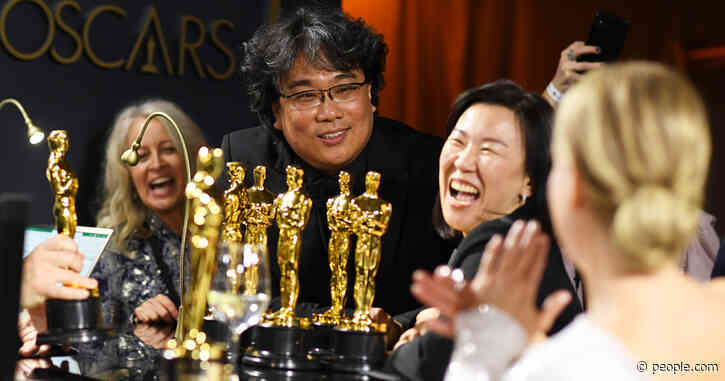 Renée Zellweger Jokes 'Is That All?' to Parasite's Bong Joon Ho After He Shows Off His 3 Oscars