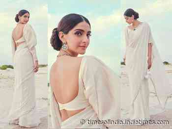 Sonam Kapoor looks all dreamy in a white saree