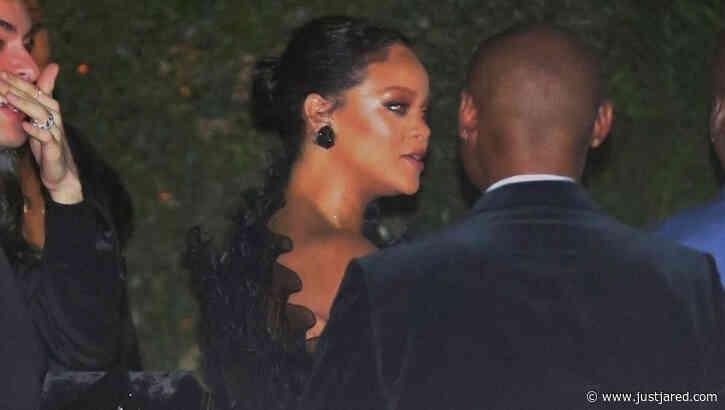 Rihanna Wears Ruffled Black Dress for Beyonce & Jay-Z's Oscars 2020 Party!