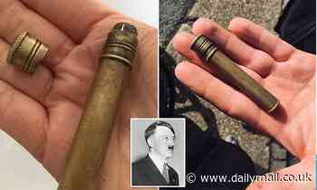 Couple find 'cyanide capsule like the one Adolf Hitler used to kill himself' on Isle of Wight beach
