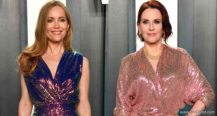 Leslie Mann & Megan Mullally Go Holographic at Vanity Fair Oscar Party with Hubbies!