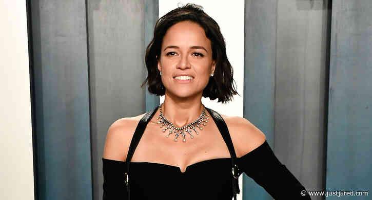 Michelle Rodriguez Bares Major Leg at Vanity Fair Oscar Party 2020