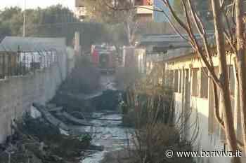 Incendio vicino al cimitero di Carbonara, a fuoco il locale di un artigiano - BariViva