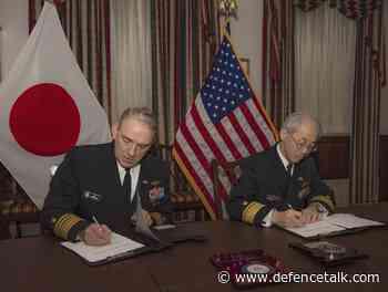 US Navy, Japan Maritime Defense Force Sign Logistics Interoperability Framework