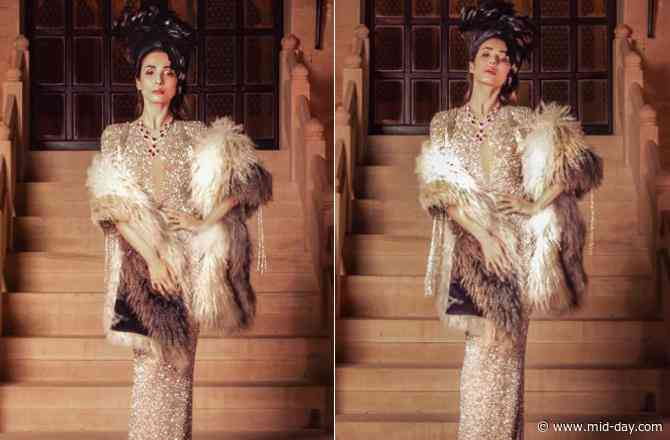 Malaika Arora glams it up in a shimmery gown for 'Le Bal Oriental' in Jaisalmer
