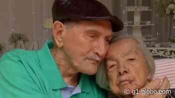Casal de Guararema celebra 75 anos de casamento em capela da família: 'Tenho amor por ela até hoje e continuo até o resto da nossa vida' - G1
