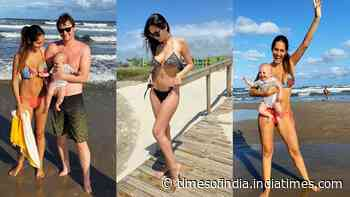 Bruna Abdullah takes 5-month-old daughter Isabella for her first visit to the beach, shares cutest pictures