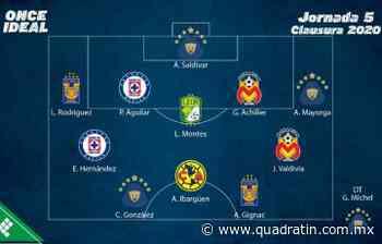 Destacan Achilier y Valdivia en el 11 ideal de la jornada 5 11:32 Cinco jornadas - Quadratín Michoacán