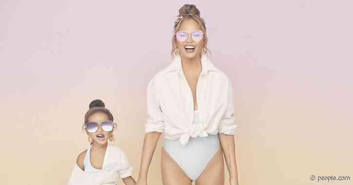 Twinning! Chrissy Teigen and Daughter Luna, 4, Model Together for Her New Eyewear Collection