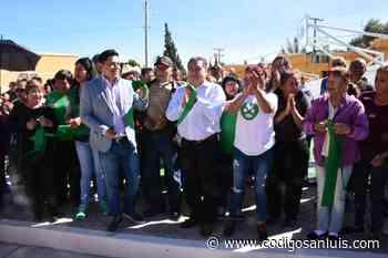 Entrega de unidad deportiva en colonia San Antonio - Código San Luis