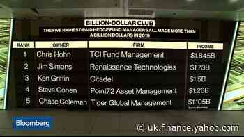 The Five Highest-Paid Hedge Fund Heads All Made More Than $1B in 2019