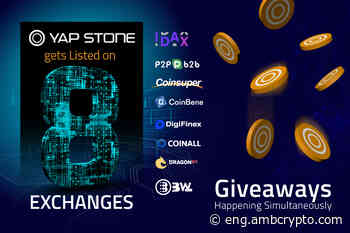 Yap Stone gets listed on 8 exchanges, giveaways happening simultaneously - AMBCrypto