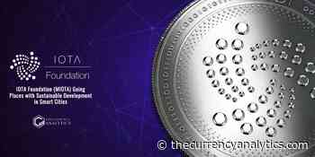 IOTA Foundation (MIOTA) Going Places with Sustainable Development in Smart Cities - The Cryptocurrency Analytics
