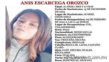 #Juarez | Buscan a menor desaparecida en ciudad Juárez - Adriana Ruiz