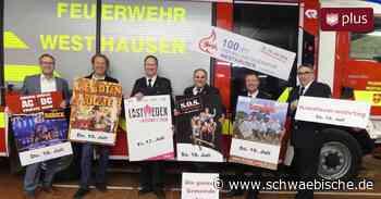 Feuerwehr Westhausen entfacht das Partyfeuer - Schwäbische