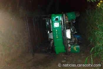 Accidente de campero en El Peñol deja una persona muerta y tres heridas graves - Noticias Caracol