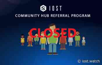 IOST Community Hub Closed | Latest news for IOST developers and community members. - IOST Watch