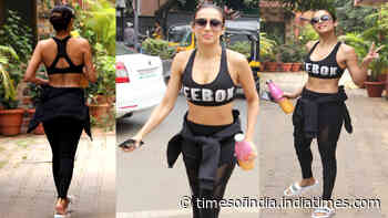 Malaika Arora flaunts her perfect curves in this all-black athleisure