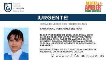 Se activa Alerta Amber para buscar a Sara Mical Rodríguez Beltrán - Radio Fórmula