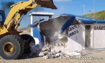 Conflicto en Beltrán Norte: tras el reclamo, demolieron una estructura en la playa - 0223 Diario digital de Mar del Plata