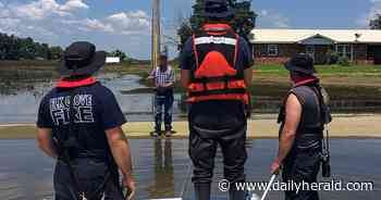 Elk Grove honors three firefighters for downstate flood response