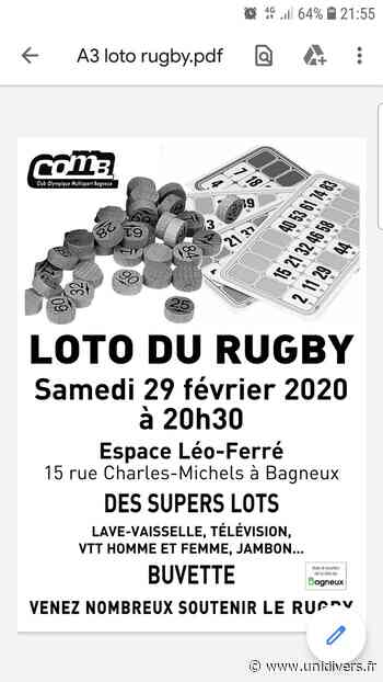 Loto du rugby Salle Leo ferre 29 février 2020 - Unidivers