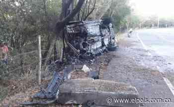 Cuatro personas resultan heridas en aparatoso accidente en la vía Roldanillo - La Unión - El País – Cali