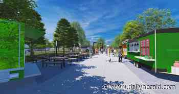 Could a park with a guitar-inspired promenade replace vacant factory in Mundelein?