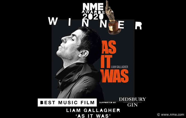 'Liam Gallagher: As It Was' wins Best Music Film supported by Didsbury Gin at NME Awards 2020